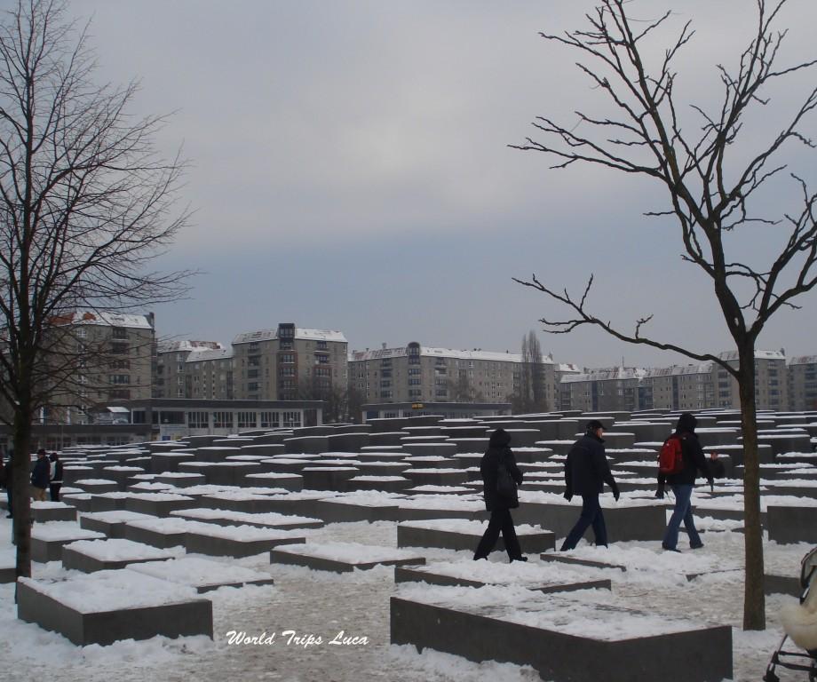 A Berlino per visitare il memoriale dell'Olocausto