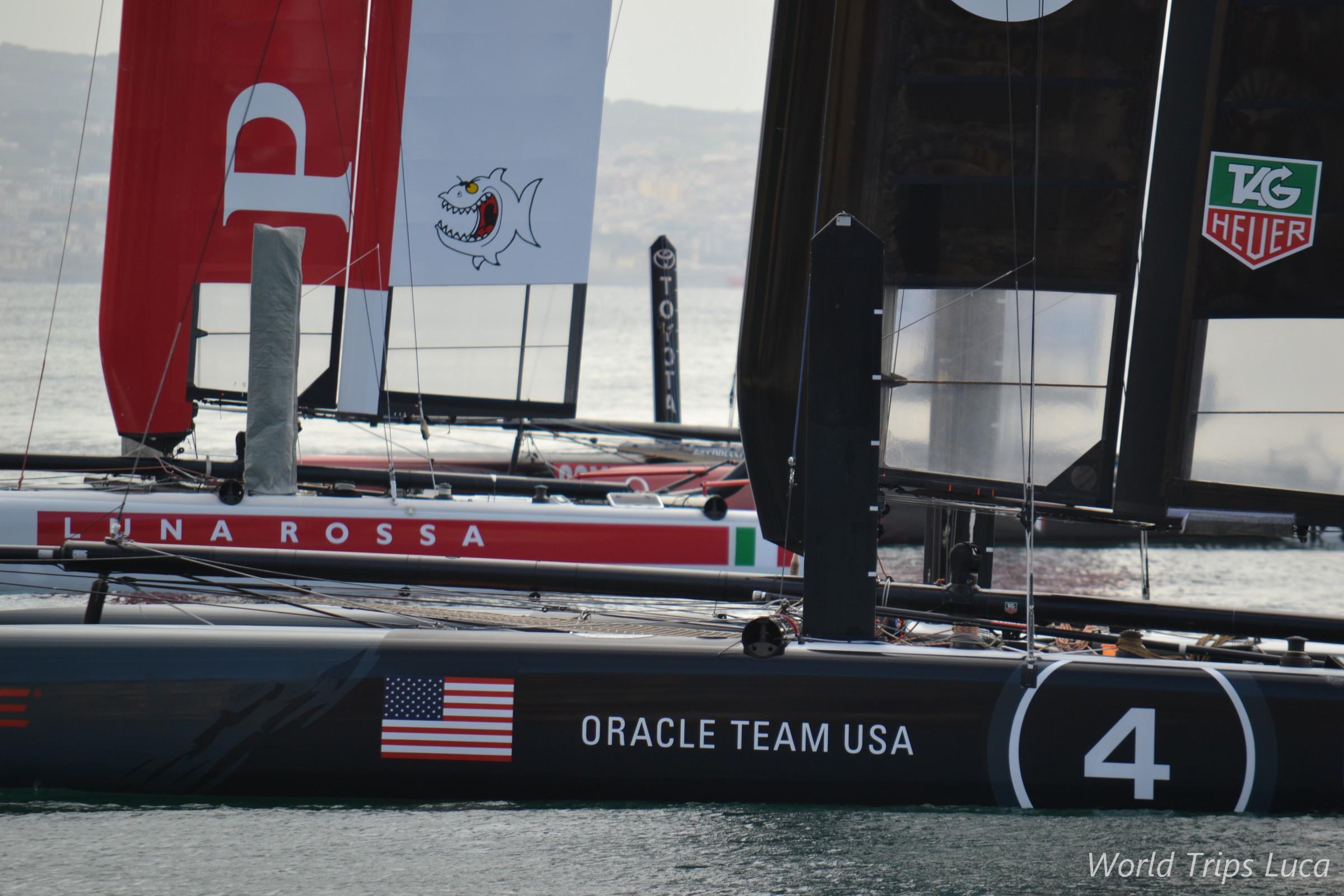 Napoli, America's cup: si conclude con la vittoria di Luna Rossa ma Oracle vince il circuito