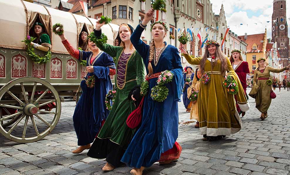 La rievocazione delle nozze di Landshut in Baviera