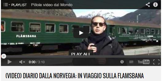 (Video) Diario dalla Norvegia: in viaggio sulla Flamsbana