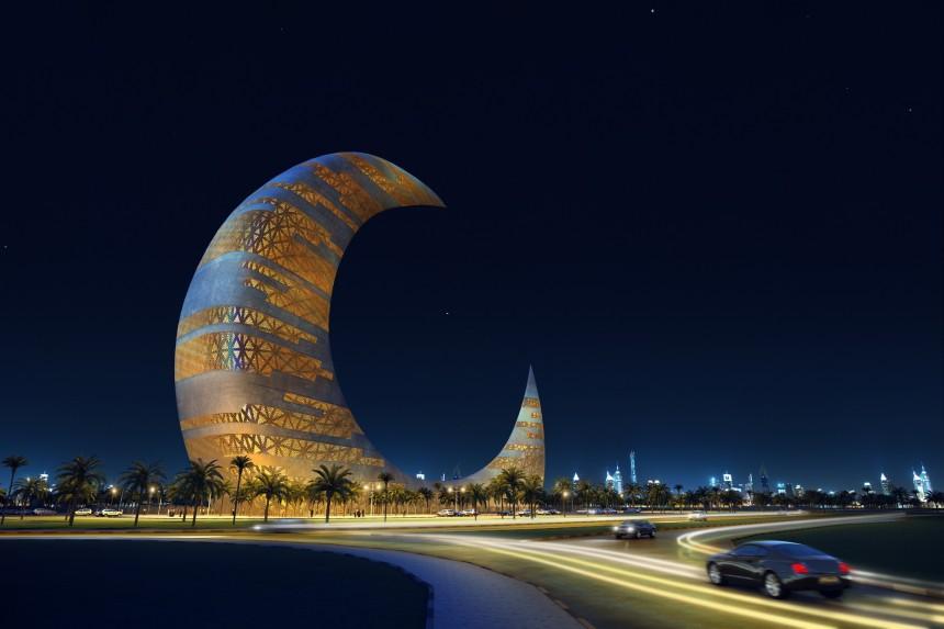 Grattacieli Incredibili: a Dubai se ne progetta uno a forma di luna