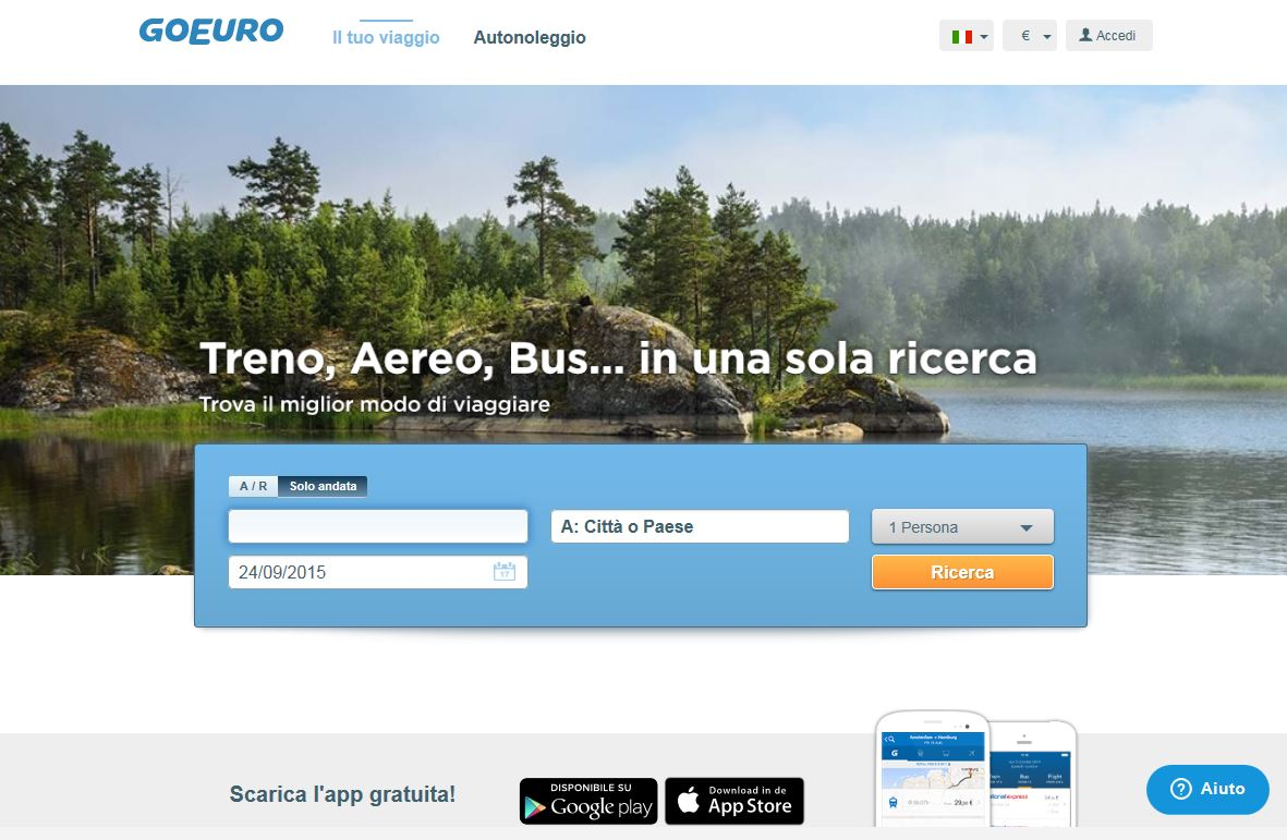 Travel Apps: scopriamo GoEuro, l'App che semplifica il vostro modo di viaggiare
