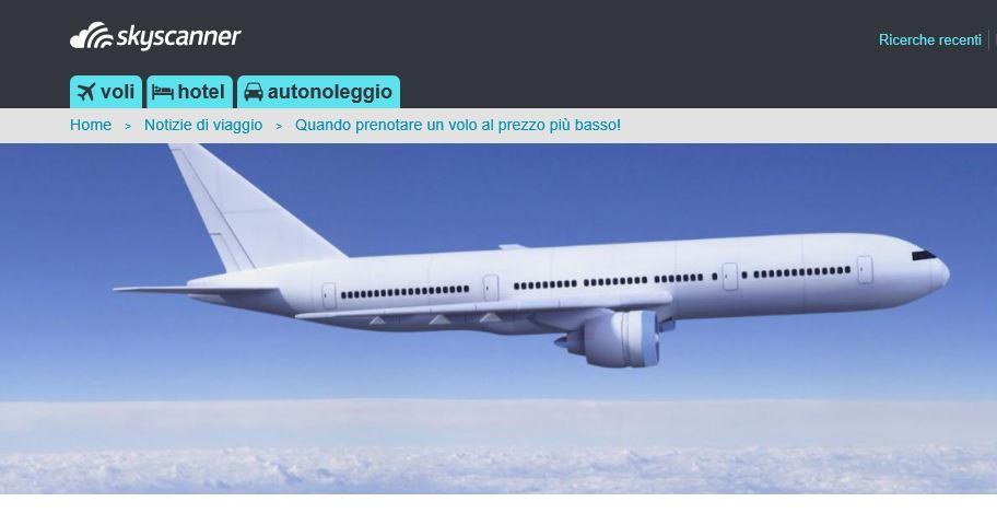 Qual è il momento migliore per prenotare un volo?