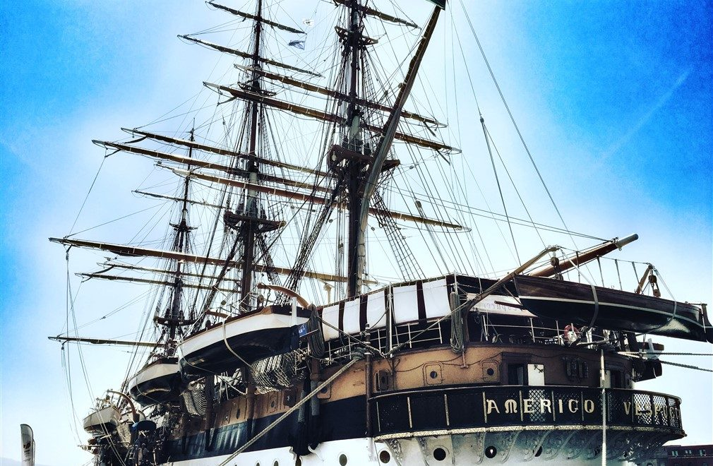 La nave scuola Amerigo Vespucci festeggia l'85° compleanno!