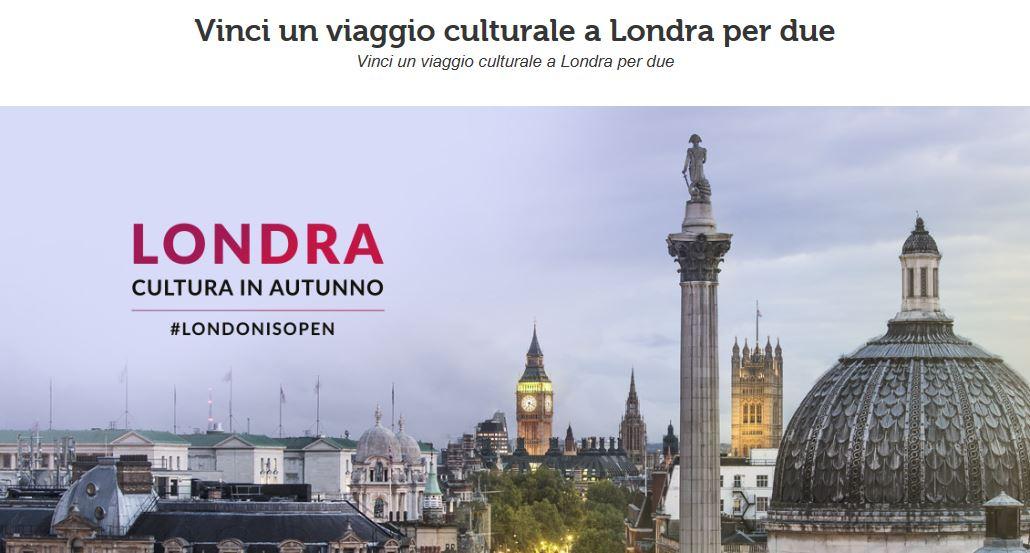 Vinci un viaggio culturale a Londra per due persone!