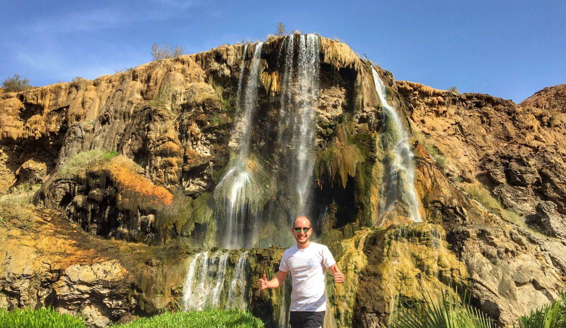 Ma'in Hot Springs: le cascate termali nella gola di un vulcano in Giordania