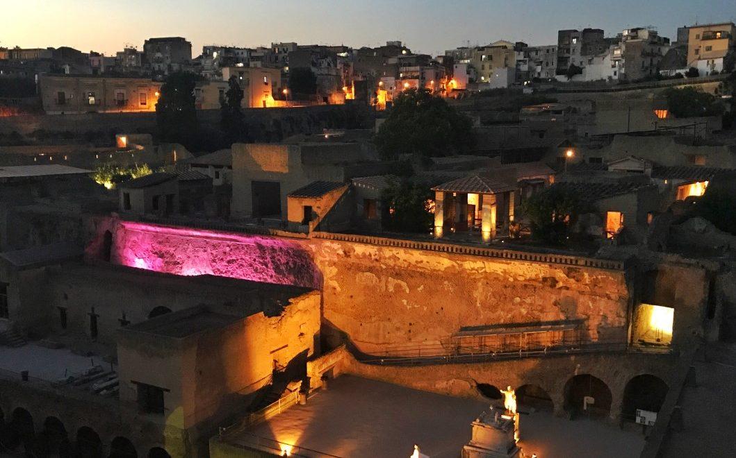 Herculaneum Experience: al via le visite notturne negli scavi di Ercolano