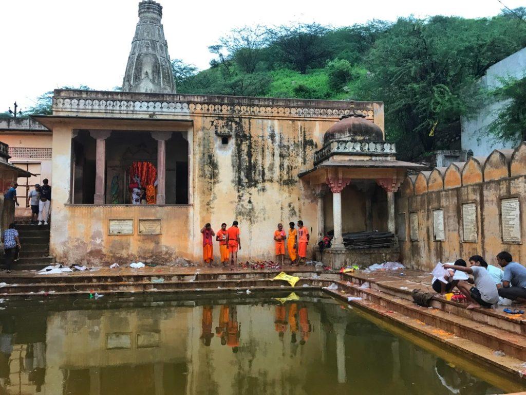 scimmie tempio galta