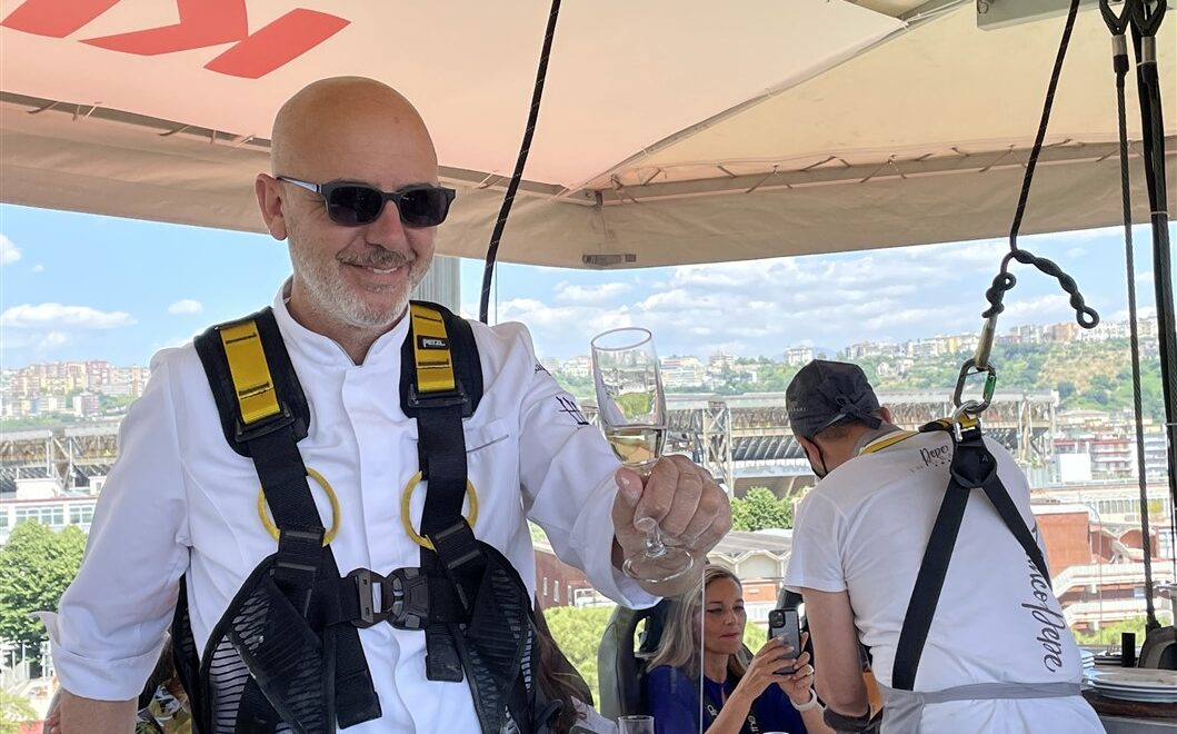 Franco Pepe e la sua pizza sfornata a 50 metri d'altezza
